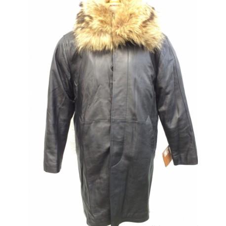 Manteau fourrure femme loup