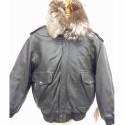 Blouson noir flight jacket Mac Douglas