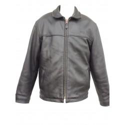 veste zippée en cuir Schott